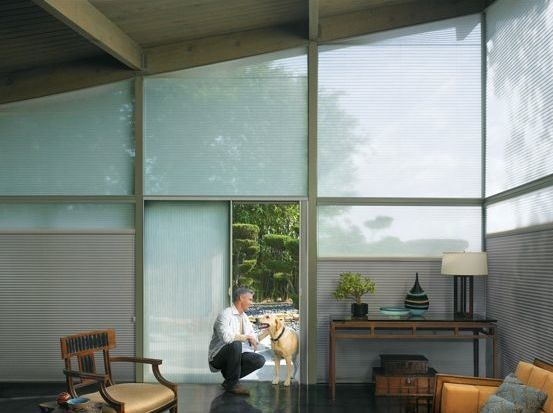 Angled Cellular Shades Del Motorized Solutions Inc