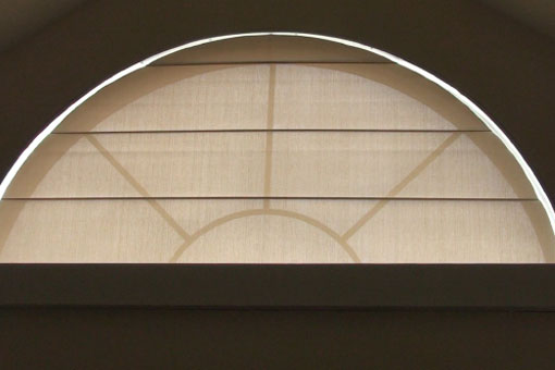 Arched Motorized Roller Shade