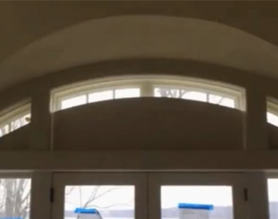 Bottom Up Arched Roller Shade