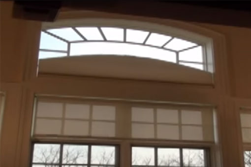 Motorized Arched Cellular Shade