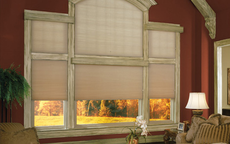 Motorized Arched Cellular Shades