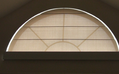 Motorized Arched Roller Shades
