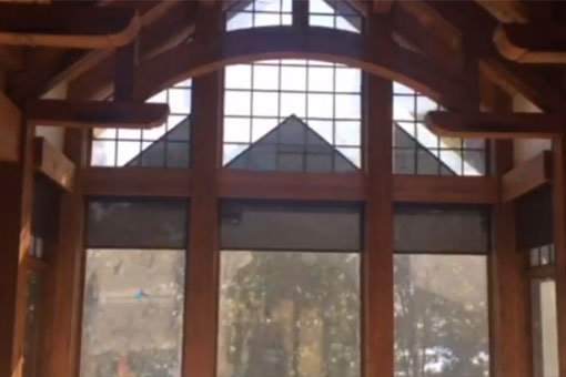 Angled Roller Shades Del Motorized Solutions Inc